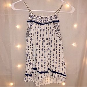 Tops - White and Navy Top